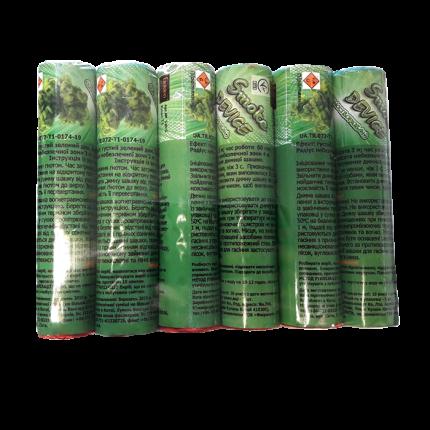 Цветные дымы, набор «ЗЕЛЕНЫЙ»,  6 шт,  (S-60 Gx6)
